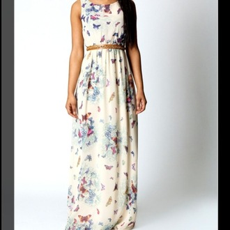 maxi dress butterfly backless dress spring trends 2014