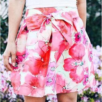 skirt floral garden flowers mini skirt skater skirt spring sweet gojane