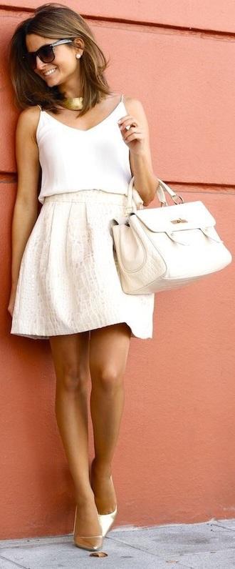 blouse tank top v neck skirt