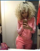 jacket,pink,tracksuit jacket,adidas tracksuit bottom