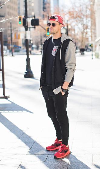 hello his blogger t-shirt jacket jewels hat sunglasses
