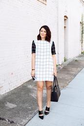 kendi everyday,blogger,bag,sunglasses,checkered,black and white