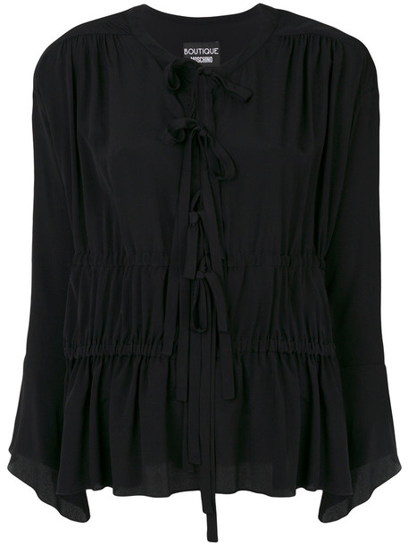 BOUTIQUE MOSCHINO blouse women black silk top