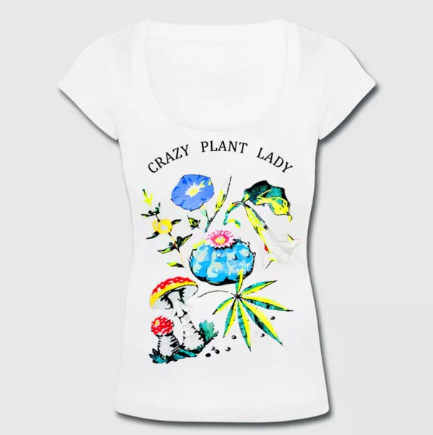 shirt t-shirt plants flowers rose fashion style women girl usa england america france germany italy canada australia