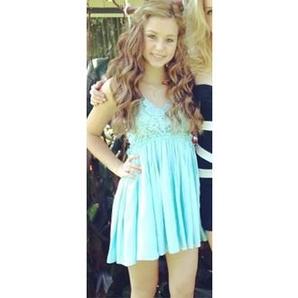 dress lace dress mint dress