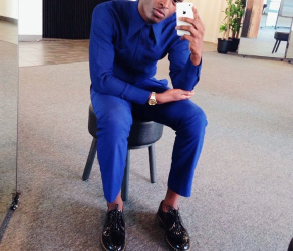 oxfords menswear jacket iphone case royal blue gold watch dress pants tailored