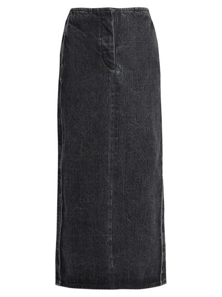 The Row skirt denim long black