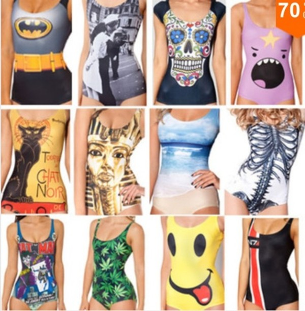 c6fe4039aed New One Piece Swimsuit Smiley Face Fun Hippie Swim Wear One Size s M ...