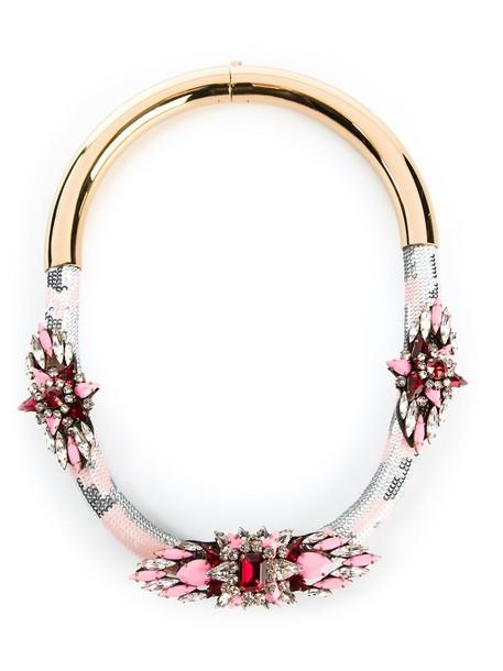 SHOUROUK women necklace purple pink jewels