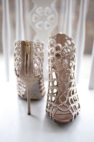 shoes diamonds gold