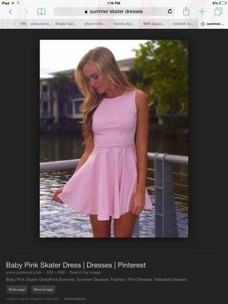 dress pink summer skater dress summer dress dance cute cute dress pink dress