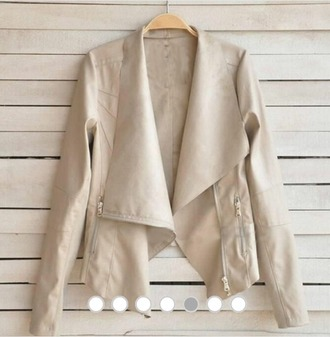 jacket white blazer white jacket leather jacket
