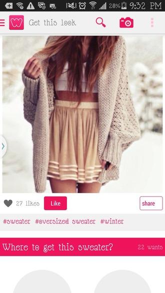 skirt circled skirt striped skirt yellow skirt khaki skirt cardigan