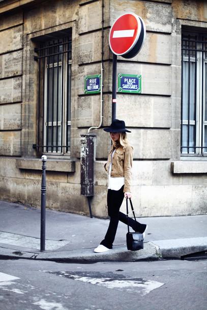 framboise fashion blogger jacket sweater black pants