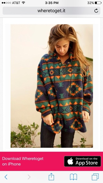 sweater fleece jackets aztec
