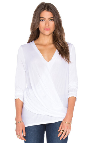 top long asymmetrical white