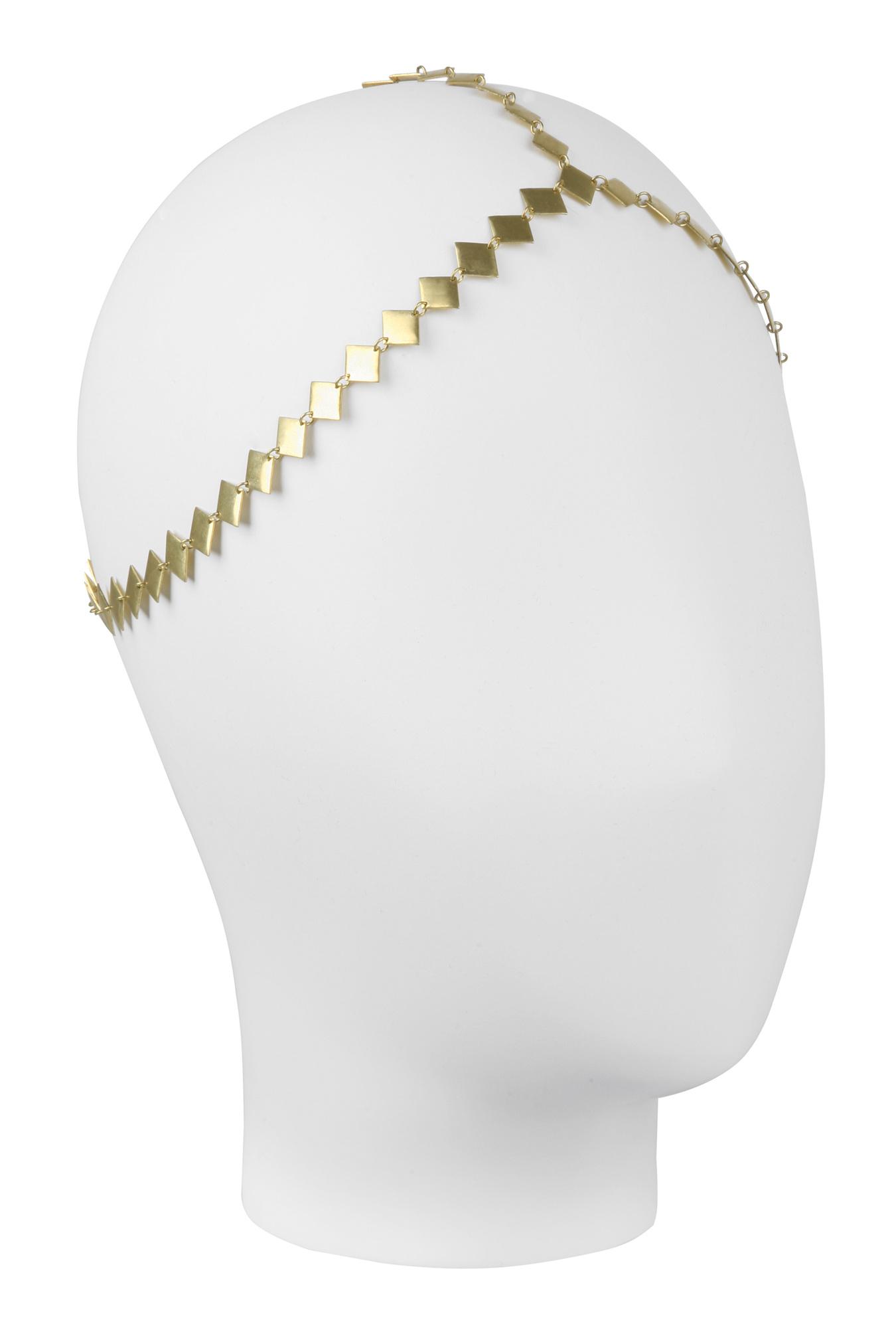 Three strand diamond headband by house of harlow