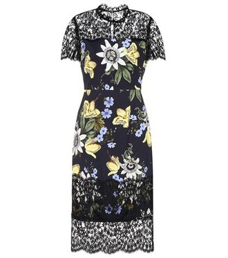 dress printed dress floral black