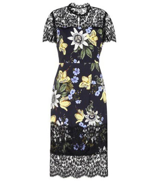 Erdem dress printed dress floral black