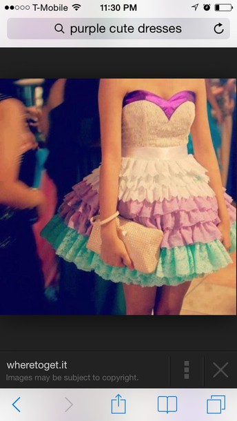 colorful dress clothes homecoming blue purple satin lace short strapless strapless dress