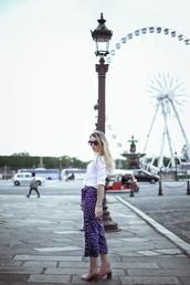 glamgerous,blogger,pants,shirt,shoes,bag,sunglasses