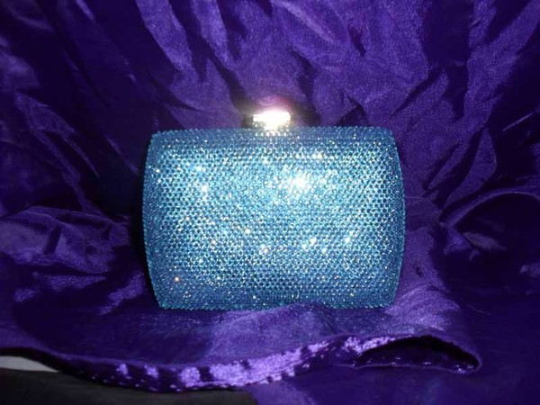 bag crystal clutch shiny purse bag