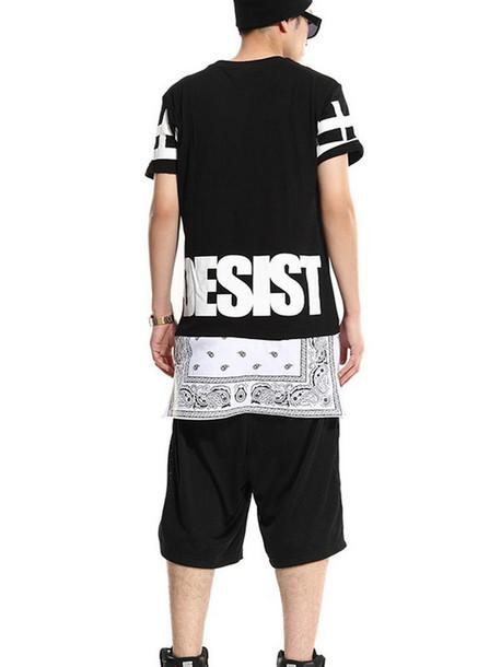 T shirt mans tee black urban outfitters streetwear for Urban streetwear t shirts