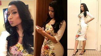 nicki minaj bodycon dress dolce and gabbana sexy