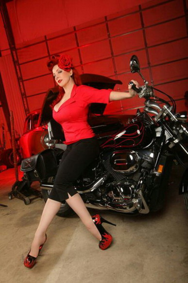 red shoes biker redhead black bikes heels platform high heels blaze stilettos red stilettos black stilettos