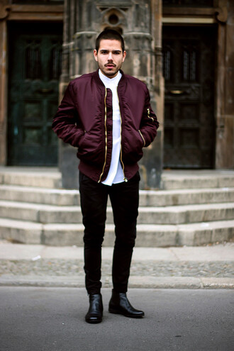 jacket hoodie clothes jaclet boy fashion vintage style like bomber jacket menswear outerwear burgundy mens bomber jacket