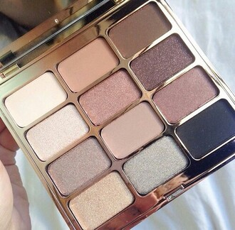 make-up eye metallic glitter nude neutral eye shadow eye shadow palette eye palette palette party make up brown pink bobbi brown gold makeup palette colorful pallets