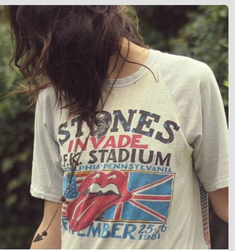 the rolling stones band t-shirt t-shirt graphic tee