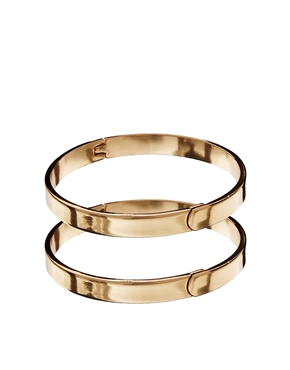 ASOS | ASOS Multipack Hinge Bangle Bracelet at ASOS
