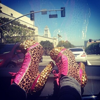shoes boots ankle gold leopard print studs pink pumps glitter shoes shiny shoes cheetah print shoes booties pink shoes pumps sparkly heels low boots pink booties high heels