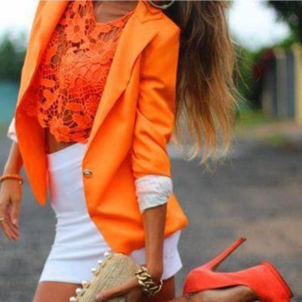 shirt clothes summer crop tops skirt jacket