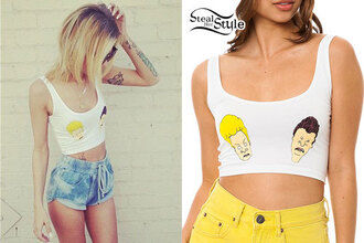 tank top retro vintage 90s style crop tops beavis and butt-head