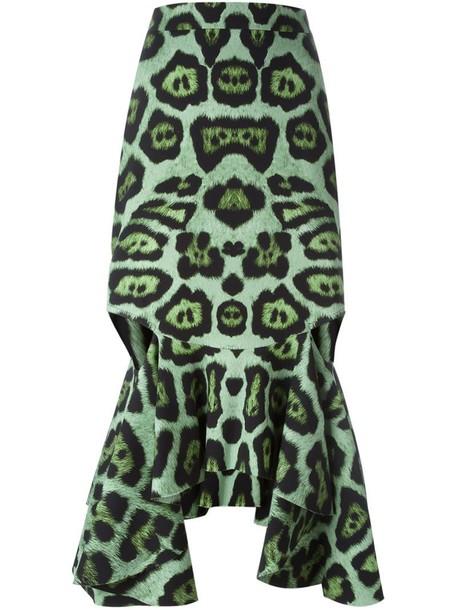 Givenchy skirt peplum skirt green
