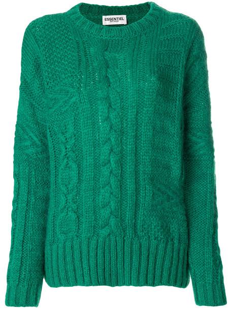 ESSENTIEL ANTWERP jumper women mohair knit green sweater