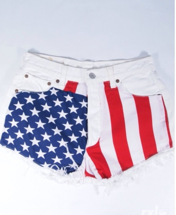 shorts american flag customized levi's levi's shorts