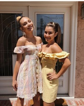 dress,Maddie ziegler,yellow dress,cute,summer
