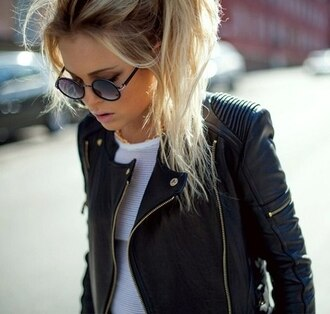 jacket black jacket leather jacket moto jacket