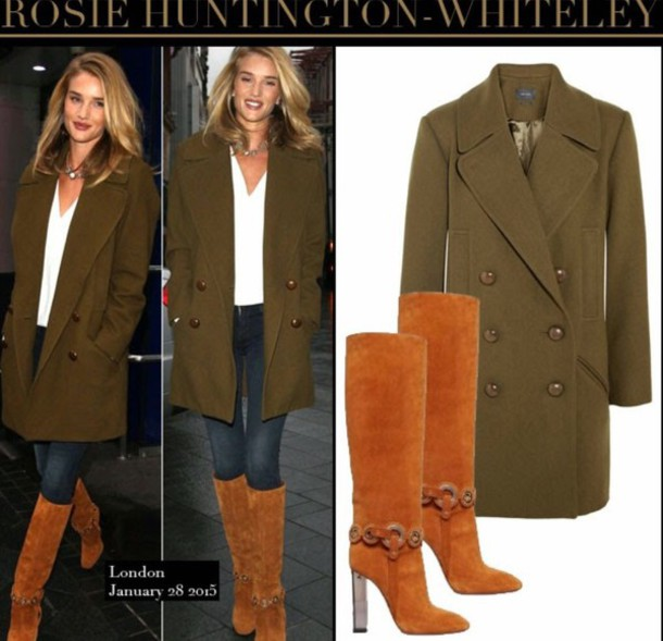 rosie huntington-whiteley boots coat