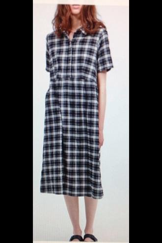 dress vintage dress hipster grunge long dress hipster dress grunge dress tartan robe retro