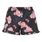 All over rose print shorts - black