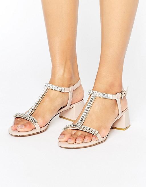 8a9161707c3 Dune Malie Nude Gem Block Heeled Sandals at asos.com