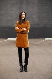 inspades,blogger,jacket,top,jeans,shoes,jewels,fall outfits,blazer,velvet jacket,ankle boots,black pants