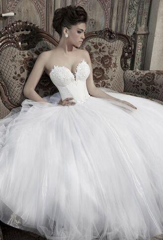 dress wedding dress wedding white dress long dress strapless dress corset bustier dress bustier wedding dress embroidered princess wedding dresses princess dress