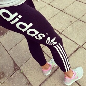 pants leggings black white black and white running tights adidas athletic jeans