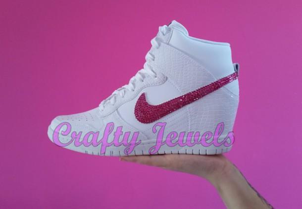 best sneakers c539d 10713 ... style nike dunk sky hi hidden wedge nike dunk sky hi essential in team  red Nike Dunk Sky High Women (Hidden Wedge Heel) Shoes WhiteWhite-Cool Grey  RQ98K ...
