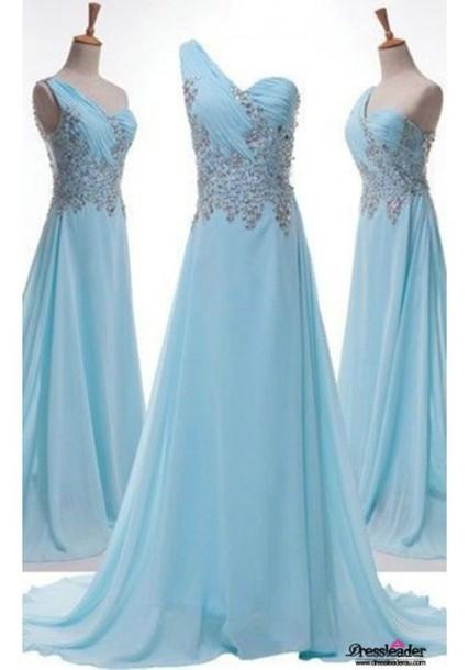 Dress Light Blue Formal Dresses One Shoulder Formal Dresses Blue